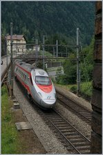 A FS Trenitalia ETR 610 by the Dazio Grande near Rodi Fiesso.