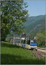 A SSIF ABe 12/16 (ABe/P/Be/Be) Treno Panoramico in Gagnone-Orcesco.