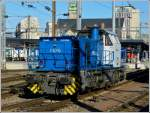 The CFL Cargo shunter engine 1106 photographed in Luxembourg City on January 16th, 2012.