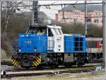 The shunter engine 1106 pictured in Luxembourg City on March 1st, 2009.