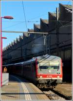 CFL 628 505 is leaving the station of Luxembourg City on January 16th, 2012.