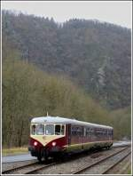 The heritage Westwaggon 208/218 (1956) pictured in Kautenbach on December 17th, 2011.