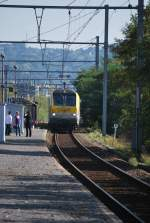 IR train from Luxembourg is arriving at Angleur station in October 2010.