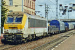 CFL 3003 hauls a steel train through Thionville on 20 May 2004.