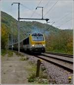 The IR 117 Liers - Luxembourg City is running between Michelau and Erpeldange/Ettelbrück on October 17th, 2011.