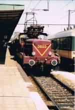 The beautiful CFL 3603 in Luxembourg City Station.
