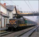 On the cold morning of March 3rd, 2004, the local train hauled by 3609 is leaving the station of Clervaux.