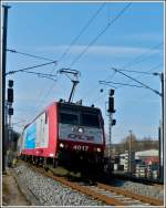 4017 is arriving with the IR 3741 Troisvierges - Luxembourg City in Wilwerwiltz on March 20th, 2012.