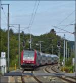 4019 is arriving with the IR 3737 Troisvierges - Luxembourg City in Wilwerwiltz on September 23rd, 2012.