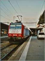 The CFL 4010 on the BLS S-Bahn service S1 in Fribourg.
