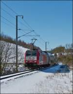 . 4002 photographed with bilevel cars near Maulusmühle on March 13th, 2013.