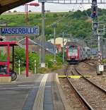 . 4010 is hauling a RE from Trier into the station of Wasserbillig on July 15th, 2014.