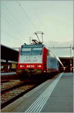 Test by the BLS: The CFL 4010 with the S1 to Thun in Fribourg  November 2005