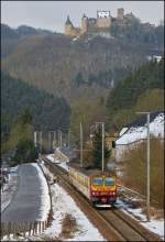 The RB 3210 Luxembourg City - Wiltz is running through Michelau on February 9th, 2013.