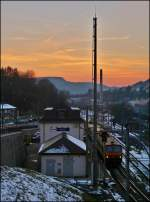 Sunset in Wiltz on February 18th, 2013.
