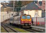 . Z 2018 is entering into the station of Wiltz on January 18th, 2014.