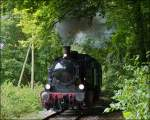 The steam engine KDL 7  Energie 507  is hauling its heritage train from Pétange to Fond de Gras on September 23rd, 2012.