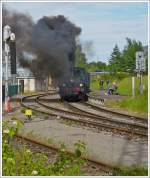 . A lot of smoke at the heritage railway Train 1900 in Pétange on June 16th, 2013.