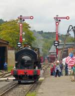 . The steam locomotive  Fred  of the belgian heritage railway SCM (Stoomcentrum Maldegem) is arriving in Fond de Gras on September 12th, 2015.