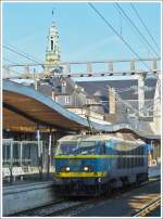 . HLE 2001 is running through the station of Luxembourg City on December 16th, 2013.