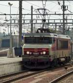 . BB 15005 is running alone through the station of Luxembourg City on October 28th, 2011.