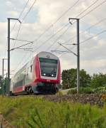 . A local train pictured in Rollingen/Mersch on August 21st, 2015.