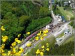 A push-pull train is leaving the station of Kautenbach on May 12th, 2009 on its way from Wiltz to Luxembourg City.