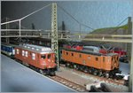 The BLS Ae 4/4 and the SBB Ae 3/6 III in Z Gauge.