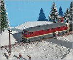 The DR V 132 439-1 on my Z Gauge Winter-Diorama.