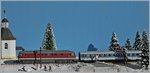 The DR V 132 439-1 with an IR on my Z Gauge Winter-Diorama.