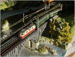 The SBB Re 4/4 II 11161 on my Z Gauge model Railroad.