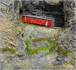 The  Brienz Rothorn Bahn  Bhm 2/4 21 on the way to the summit.