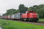 Container shuttle with 6428 is about to pass Dordrecht Zuid on 23 July 2016.