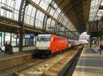 E 186 115 (91 84 1186 115-9) with Intercity to Breda. Track 15 Amsterdam Centraal Station 20-09-2014.