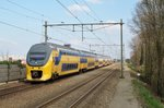 NS 8672 speeds through NIjmegen-Dukenburg on 10 April 2016.