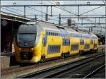 A local train is leaving the station of Roosendaal on September 5th, 2009.