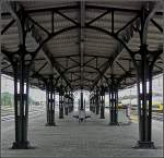 The beautiful old station platform roof at Roosendaal pictured on September 5th, 2009.