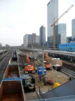 All the platforms will be demolished at Rotterdam central station, because a new station will be builed.