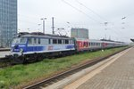 With overnight stock from Kiyv EP07-345 pauses on 2 May 2016 at Warszawa Zachodnia.