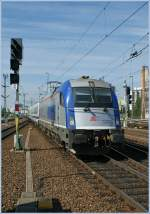 The PKP EU44 370 008 is arriving with the Berlin-Warszawa-Express in Berlin East Station.