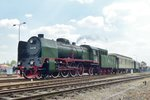 Pt 47-65 enters Wolsztyn on 30 April 2016 with an extra train.