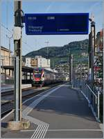 The SBB RABe 511 113 from Fribourg to Geneva in Vevey (SBB Summertimetable) 