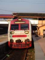 S11 DMU 903 seen at Colombo-Fort getting ready for a long distance journey on 26th Oct 2013.