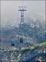 The Schwägalp-Säntis cableway pictured in Schwägalp on September 14th, 2012.