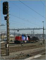 The SBB Am 843 072-0 in Renens VD  02.03.2012
