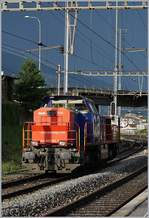 The SBB Cargo Am 843 083-7 in Sierre.