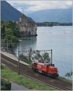 The Am 843 026-6 by the Castel of Chillon.