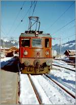 The BLS Ae 4/4 251 in Zweisimmen.