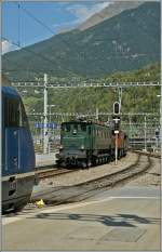 The Ae 4/7 10976 in Brig.