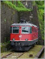 The Re 4/4 II 11159 photographed in Bellinzona on May 23rd, 2012.